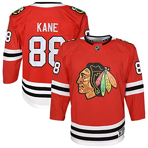 Patrick Kane Chicago Blackhawks NHL Boys Youth 8-20 Red Premier Stitched Player Jersey (Small/Medium)