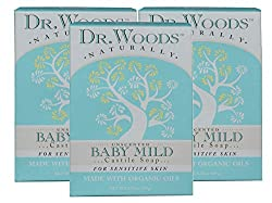 Dr Woods Unscented Tattoo Mild Bar Soap with Organic Shea Butter