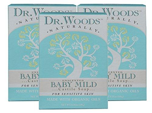 Dr. Woods Unscented Baby Mild Bar Soap
