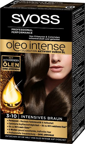 Syoss Oleo Intense Coloration 3-10 Intensives Braun, 3er Pack (3 x 115 ml)