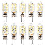 G4 LED Bulb, AMAZING POWER 12V JC Bi Pin Bulb, 20W Halogen Bulb Replacement, Warm White 3000K, 10-Pack