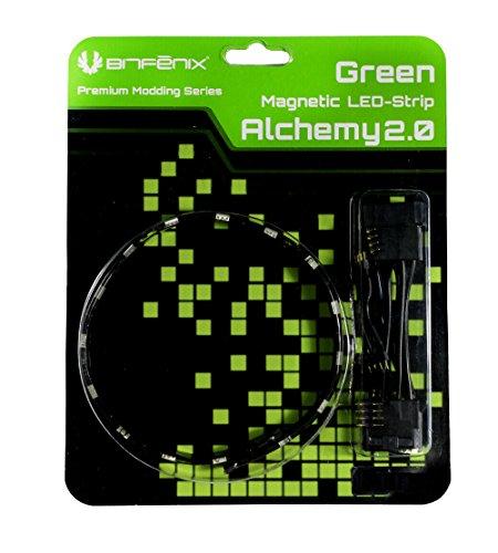 BITFENIX Alchemy 2.0 Interior 6 Bombilla(s) 12 cm - Cinta Luminosa (Interior, Poliuretano, PVC, Cobre, 6 Bombilla(s), Verde, LED, 1,44 W)