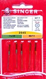 Singer 5genuine Sewing Machine Needles 2045Gauge 70/09and 80/11for Knit 130/705H-S