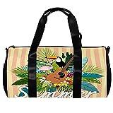 Bolsa de viaje para mujeres y hombres, hermoso verano, flamenco, guitarra, deportes, gimnasio, bolsa de viaje, bolsa de equipaje al aire libre
