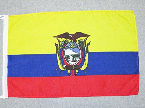 AZ FLAG Flagge Ecuador 45x30cm mit Kordel - EKUADORIANISCHE Fahne 30 x 45 cm - flaggen Top Qualität