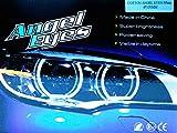 KIT AROS OJOS DE ANGEL LED COTTON 4x 131MM CANBUS E46 E39 E38 E36 BLANCO 6000K Angel Eyes Halo Ring E-MARK