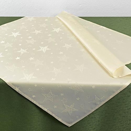 KAMACA Lotus Effekt Tischdecke Magic Stars mit Sternen Motiv FLECKSCHUTZ - Flüssigkeiten perlen einfach ab - Winter...