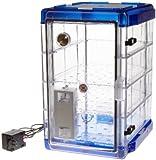 Bel-Art Secador Vertical Profile Clear 4.0 Auto-Desiccator Cabinet with Blue End-Caps; 120...