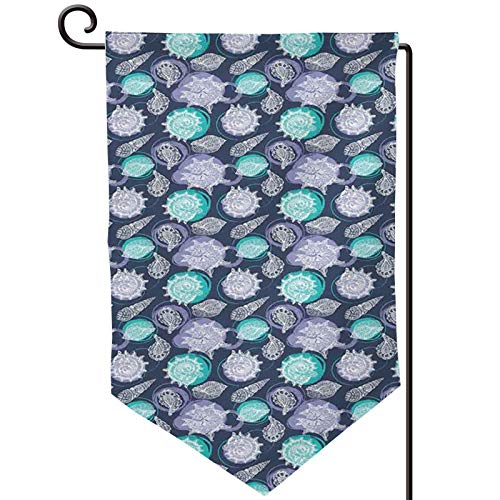 FULIYA Bandera de jardín de doble cara con diseño de conchas marinas, festoneadas, para verano, verano, para casa, jardín, 31,7 x 45,7 cm