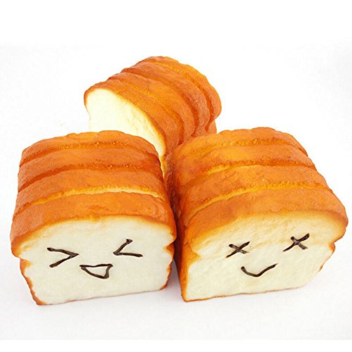Great Deal(TM) 1 Kawaii Toast Squishy Expression Card Squishies Cellphone Holder Hand Pillow Toy