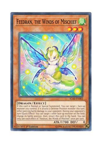 遊戯王 英語版 IGAS-EN082 Feedran, the Winds of Mischief いたずら風のフィードラン (ノーマル) 1st Edition