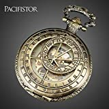 Davitu Pocket & Fob Watches - PACIFISTOR Pocket Watch Men Skeleton Mechanical Fob Watches Rull Metal Steampunk Antique Necklace Clock Gift Reloj De Bolsillo