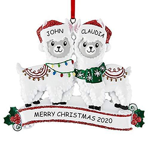 Snow Island Alpaca colgante de Navidad, árbol de Navidad, decoración de escritorio mini adornos regalos para niñas