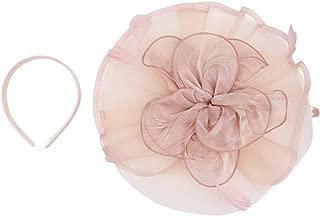 Fascinator Women Ladies Silk Yarn Feather Hair Hoop Cocktail Party Wedding Sinamay Headband