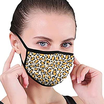 Leopard Skin Pattern Fabric Half Face Mask Mouth Masks with Earmuffs Anti Dust Anti Haze Windproof Mask