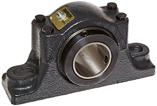 Sealmaster RPB 111-2 Pillow Block Tapered Roller Bearing, Non-Expansion Type, Heavy-Duty, Regreasable, Double Set-Screw Collar, Felt Seals, Cast Iron Housing, 1-11/16
