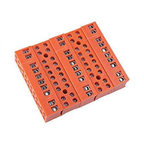 Sourcingmap® 5Stk 600V 36A Zwei 10 Position Schrauben Terminal elektrische Barriere Streifen DE de