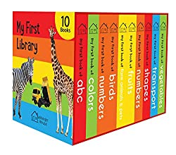 My First Library: Boxset of 10 Board Books for Kids Board book