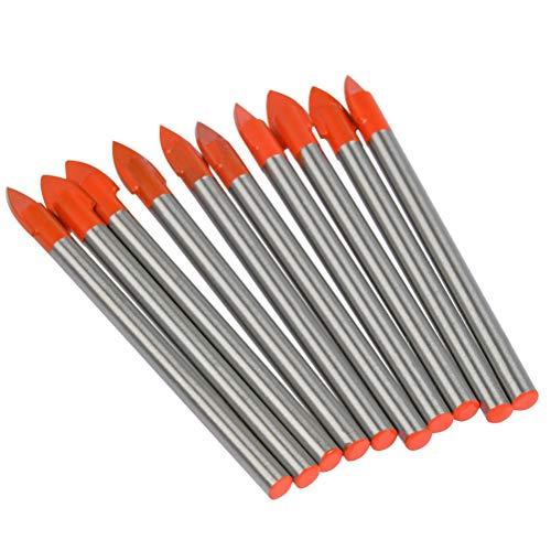 10 Brocas para Azulejos y Azulejos de Vidrio de 6 mm Herramienta de Perforación de Carburo de Tungsteno para Espejo de Cerámica, Porcelana Mármol, Vidrio de Perforación