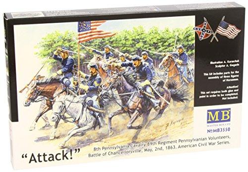 Masterbox 1:35 - US Civil War Series: The Attack of the 8th Pennsylvania Cavalry - (MAS3550)