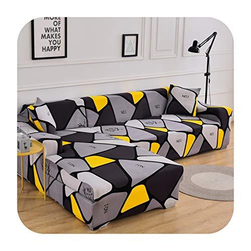 ZaHome Funda elástica para sofá de 1/2/3/4 plazas, funda de sofá Sof universal para sofás de sala de estar seccional en forma de L, funda de 2-1 plazas (90-140 cm)