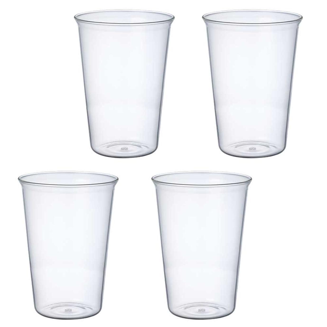 リボン研磨剤楽しいKINTO (キントー) ビアグラス キャスト 430ml 4個セット 8432