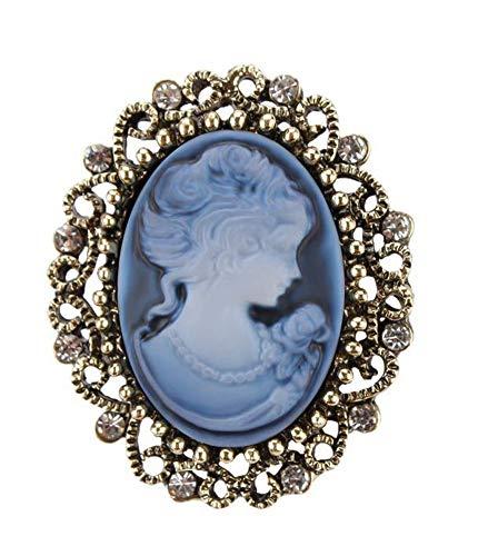 Bijouxmodefashion Brosche mit Anstecknadel für Damen, Stahl, Bronze, verschiedene Farben