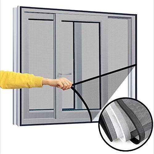 Zanzariera rete di sicurezza per gatti per finestre,Rete per gatti semi-trasparente a telaio completo anti-caduta, rete di protezione per insetti zanzare, 150 x 180 cm