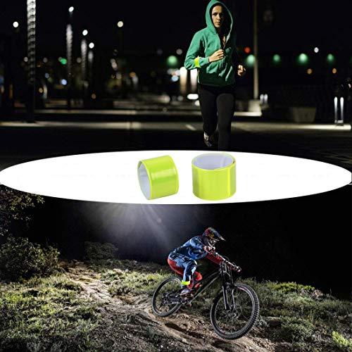 LAKIND 16PCS Reflektorbänder Schnapparmbänder Klatscharmband Sicherheitsband Reflektierend für Jogger und Radfahrer (16pcs) - 6