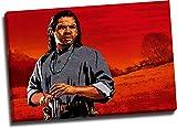 ARYAGO Red Dead Redemption - Póster enmarcado para pared (91,4 x 60,9 cm), diseño de Charles Smith