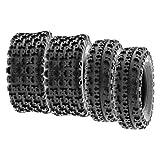SunF 22x7-10 20x11-9 ATV UTV Tires 6 PR Tubeless A027 [Bundle]