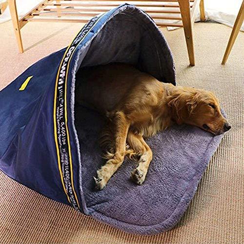 Soul hill Haustier Hund Schlafsack Haustier-Plüsch-Nest Wasser- und Winddicht warme und leichte, weiche Folding Nest for kleine, mittlere und große Katzen und Hunde Haustier-Bett (Size : L)