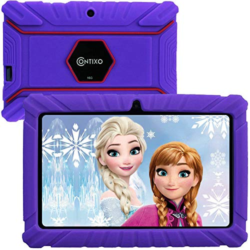 Contixo V8-2 7 inch Kids Tablets - Tablet for Kids with Parental Control - Android Tablet 16 GB HD Display Durable Case & Screen Protector WiFi Camera-Learning Toys, Purple