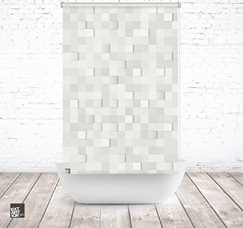 ERSATZ KLEINE Wolke Duschrollo für Leerkassette 3D Stones Textil Badewanne