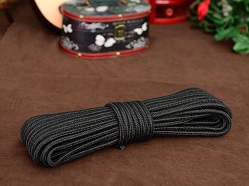 Corde tressée 8 mm/Extérieur multifonction de couleur corde en nylon, noir