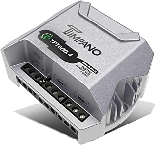Timpano Compact 4 Channel TPT500.4 Car Audio Amplifier – 4x 125 Watts at 2 Ohms – Mini Stereo 12 volts Full Range Class D ... photo