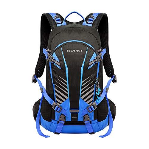 VERTAST 20L Fahrradrucksack Damen Herren Trinkrucksack Wasserdicht mit Regenhülle Multifunktional Trekkingrucksack für Reiten Wandern Camping Urlaub, Blau