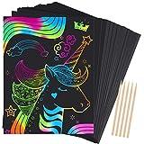 Dreamingbox Cadeau Fille 4-14 Ans, Carte a Gratter Cadeau de Noël Fille 4-14 Ans Jouets Enfants Cadeau Garcon 4 5 7 8 10 Ans Fête Cadeau Anniversaire Activites Manuelles pour Enfants (Colorée)