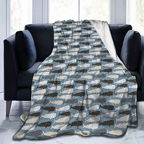 Manta mullida con patrón de arte abstracto con diferentes siluetas de colores dibujados a mano y líneas, manta suave para dormitorio, cama de 80 x 60 pulgadas