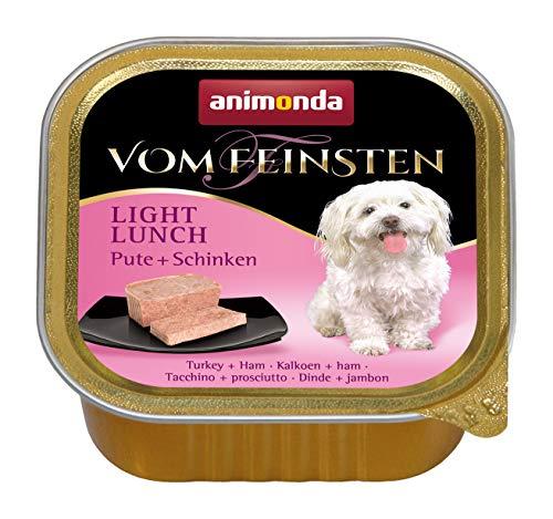 animonda Vom Feinsten Adult Hundefutter, Nassfutter für ausgewachsene Hunde, Light Lunch Pute + Schinken, 22 x 150 g