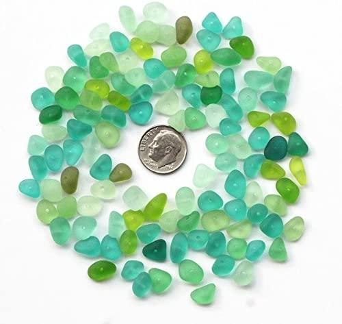 GENUINE SEA GLASS 15mm Beads 20 Flawless White Clear Center Drilled Real Surf Tumbled Natural Beach Seaglass Jewelry Bead  C 492