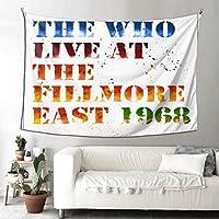 The Who Live At The Fillmore East, 1968 タペストリー 壁掛け 装飾布 おしゃれ インテリア 寝室 カーテン 部屋飾り 多機能 大判 耐用性が強く 抗菌防臭 子供部屋 お店 雑貨 パーテイー 四季通用