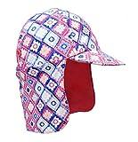 Niños Verano Sombrero para el Sol, UPF 50+ Gorra de protección Solar Legionnaire para niños y niñas de 3-15 años (Rosa Box, 54CM)