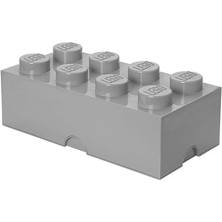LEGO 4004 Brique de Rangement empilable 8-Collection Design, Plastique, Gris Pierre Moyen, 50 x 18 x 25 cm