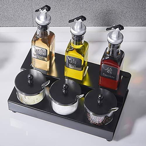 Juego De Estantería De Spice Spice De 2 Niveles, Estantería De Almacenamiento En Encimera De Cocina Estantes Organizadores Con Botellas Selladas Y Frascos De Especias multiuso estanterías para especie