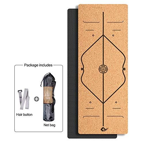 Yogamatte WGXYQ Doppelseitig rutschfest Dicke 6mm TPE Mit Hoher Dichte Faltenbest?ndig, Mit Netzbeutel 183×65cm Für Fitness, Pilates, Gymnastik (Color : 1#)