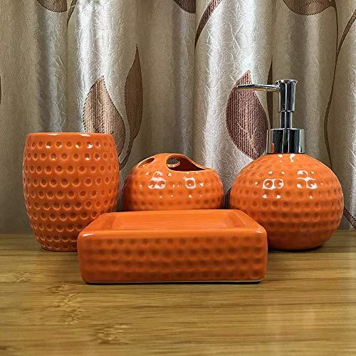 AMYZ Juego de Accesorios de cerámica para baño Completo de 4 Piezas:Soporte para Cepillo de...