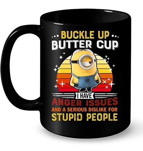 N\A Minions abrocha la Taza de Mantequilla Tengo Problemas de ira muqs Taza de café