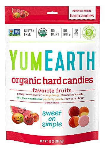 YumEarth Organic Favorite Fruit Hard Candy Assorted Flavors 13 Ounce