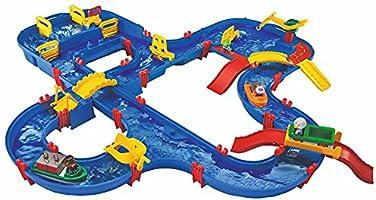 BIG Spielwarenfabrik 1650 AquaPlay - AmphieWorld - 145x156 cm große Wasserbahn, inklusive 79 Teilen, Spieleset inklusive...